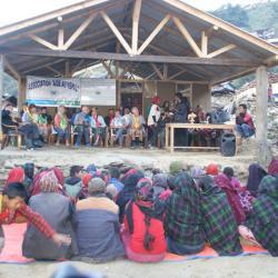Inauguration de la nouvelle mairie, Laprak, Népal